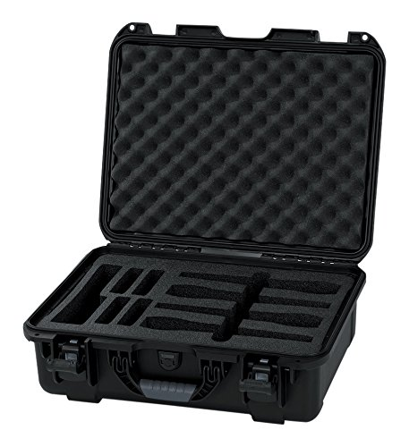 Series Wireless Mic - Gator Cases Titan Series Water Proof Injection Molded Wireless Microphone Case; Fits up to 4 Wireless Microphones (GM-04-WMIC-WP)