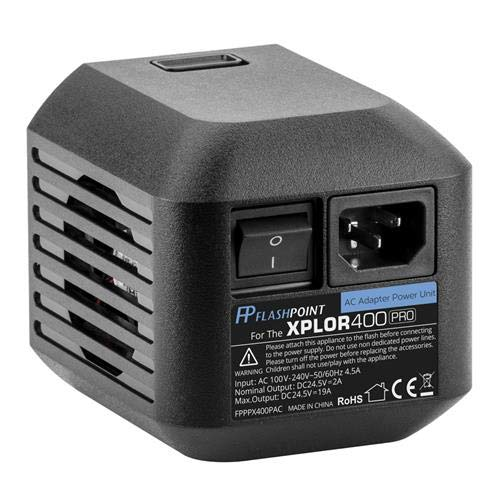 Flashpoint AC Adapter Unit for The XPLOR 400 Pro R2 Series Monolights (Godox AC400) by Flashpoint