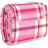 "Extra Large Picnic & Outdoor Blanket with Waterproof Backing 80"" x 90"""