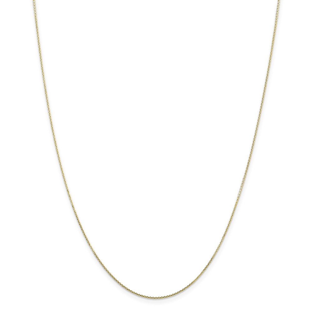 Mia Diamonds 10k Yellow Gold .80mm Diamond-Cut Cable Chain Necklace