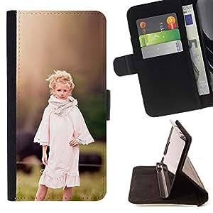 BullDog Case - FOR/HTC One M9 / - / country girl devochka ferma /- Monedero de cuero de la PU Llevar cubierta de la caja con el ID Credit Card Slots Flip funda de cuer