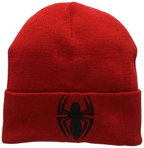 única Marvel Punto Logo Man Talla de Spider Unisex Rosso Adulto Gorro 1HHTrnvwq