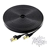 Best Ethernet Cable 100fts - Ethernet Cable Cat 7 100ft Black Shielded Cat7 Review