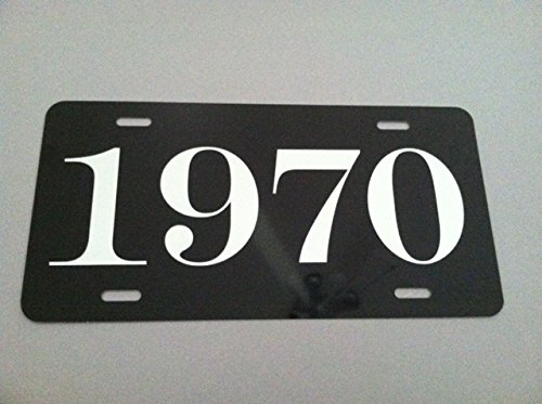 1970 YEAR LICENSE PLATE