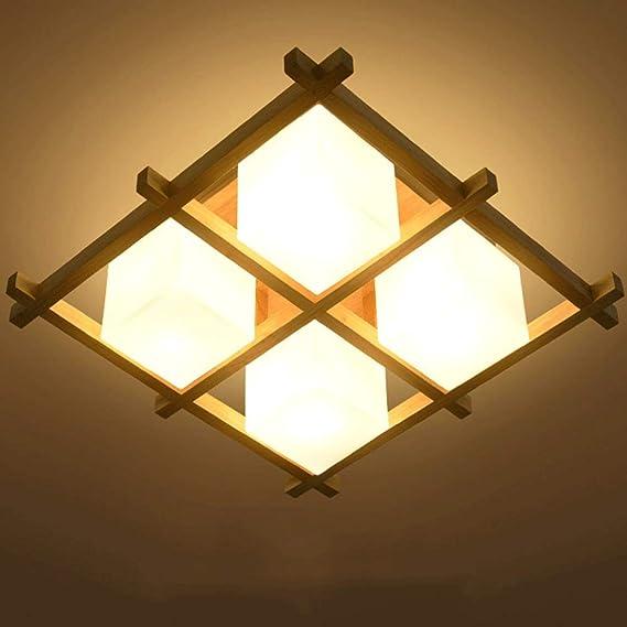 MRFX Simple moderna lámpara de techo Tatami japonés Sala de ...