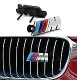 M Front Grille Emblem, 3D Metal Power Car Chrome Badge Fashion...