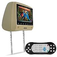 """Encosto com Tela Slim Prime Bege LCD 7"""" e Leitor De DVD USB SD Controle Remoto E Games TechOne"""
