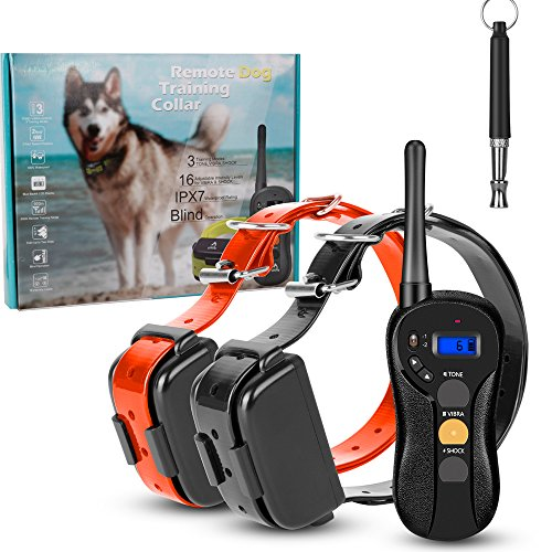 Ounuo-Dog-Shock-Collar-660yds-Remote-Dog-Training-Collar-with-Tone-Vibration-Shock-Mode-for-2-Dogs