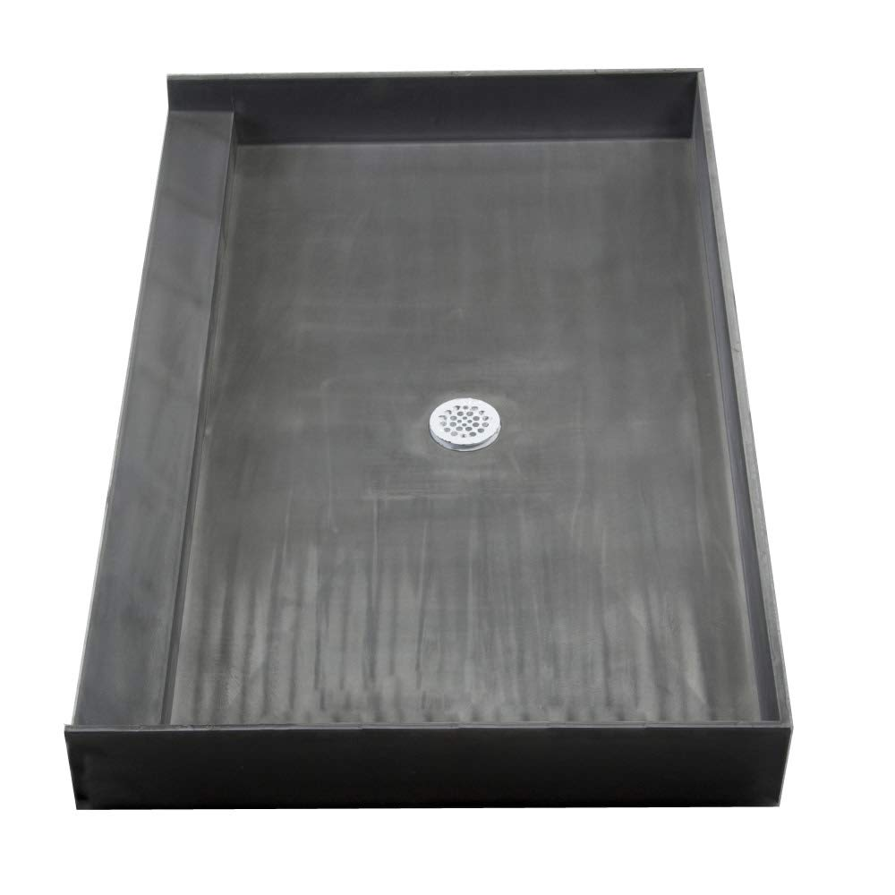 72 Inch Shower Base.Tile Redi 3772c Pvc Single Curb Shower Pan With Integrated Center Pvc Drain 37 Inch Depth By 72 Inch Width