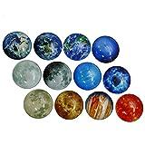HUELE 12 Pcs Fun Glass Planetary Fridge Magnets