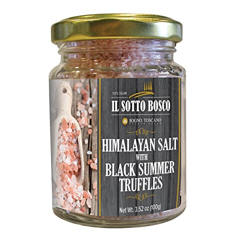 Sogno Toscano Himalayan Salt and Black Truffles - 100g / 3.53 oz by Sogno Toscano
