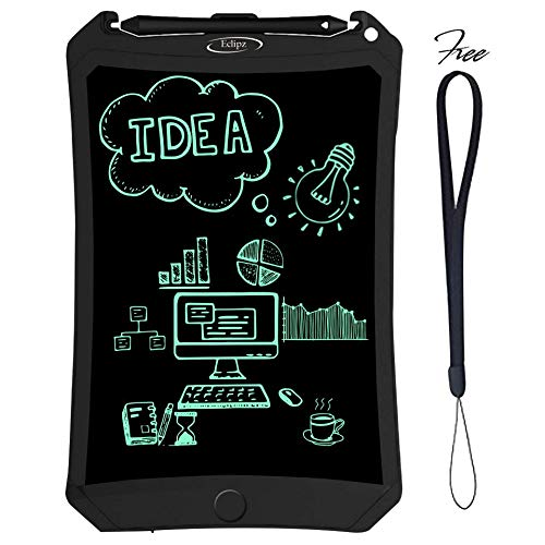 Eclipz LCD Writing Tablet Pad: 8.5'' Electronic Drawing & Writing Board For Kids & Adults, Portable & Magnetic eWriter, Digital, Handwriting Paper Doodle Board For School, Fridge Or Office
