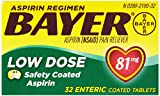 Bayer Aspirin Regimen Low Dose 81mg Enteric Coated Tablets, 32-Count (Pack of 6)