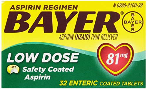 Bayer Aspirin Regimen Low Dose 81mg Enteric Coated Tablets, 32-Count (Pack of 6) by Bayer