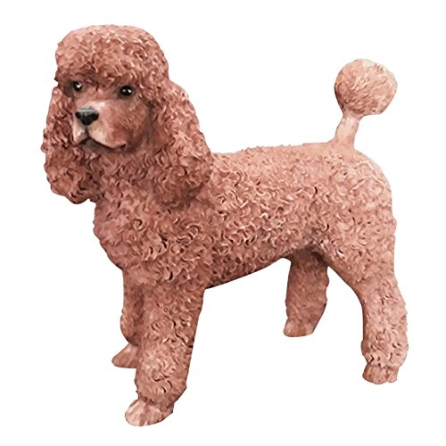 Generic Poodles Figurine Cute Standard Poodles in White and Red Color (red) (Poodle Standard White)