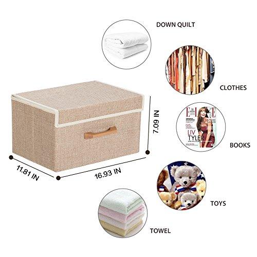 Large Foldable Storage Cube Basket Bin 16.93