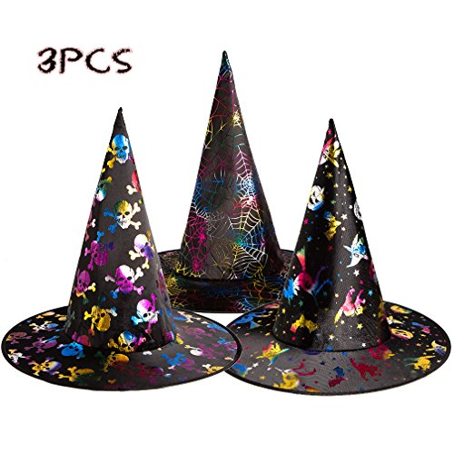 Witch Hat Cap Cosplay Halloween Top Hat 3PC Party Supplier Costume Accessory