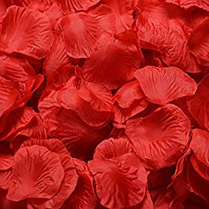 1000 Pcs Rose Petals Odorless Artificial Silk Flower Favors for Weddings Party Home Decorations 18