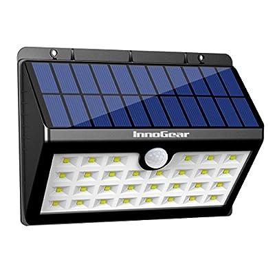 InnoGear Upgraded Solar Lights 30 LED Wall Light Outdoor Security Lighting Nightlight with Motion Sensor Detector for Garden Back Door Step Stair Fence Deck Yard Driveway
