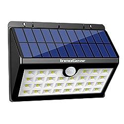 InnoGear Solar Lights 30 LED Wall Light Outdoor Security Lighting Nightlight with Motion Sensor Detector for Garden Back Door Step Stair Fence Deck Yard Driveway