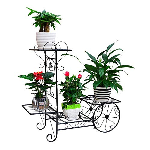 JOANNA'S HOME 4 Tier Outdoor Plant Stands Planter Stand in Carriage Style Flower Stand for Living Room Garden Balcony 29.1