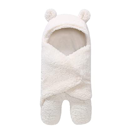 Saco de dormir para bebés, calentador de piernas recién nacido más edredón de terciopelo,
