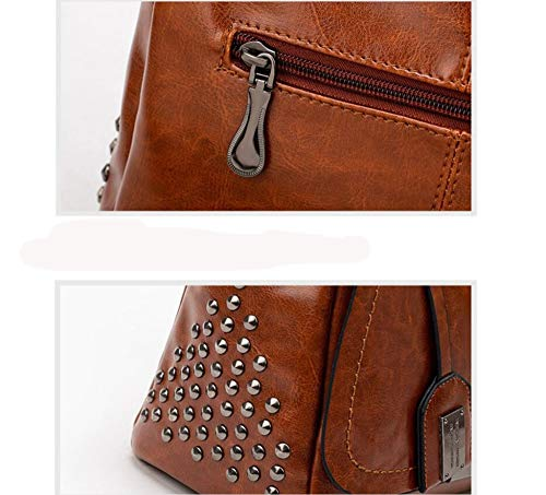 Oblique Bag Shoulder Handbag Fashion Female PU Single Oil Hongge A Bag Rivet Skin Bag Large Capacity Female Span 0vPOqwF8q