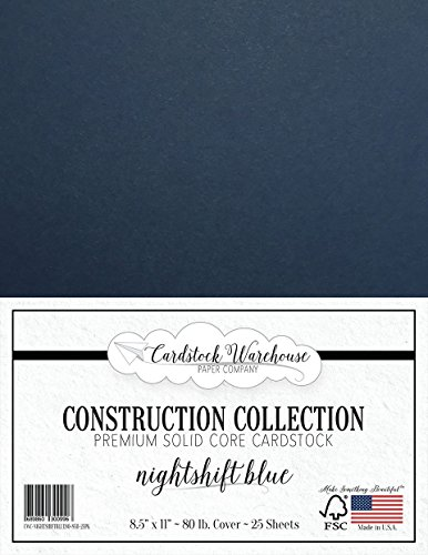 NIGHTSHIFT BLUE/DARK NAVY BLUE Cardstock Paper - 8.5 x 11 in