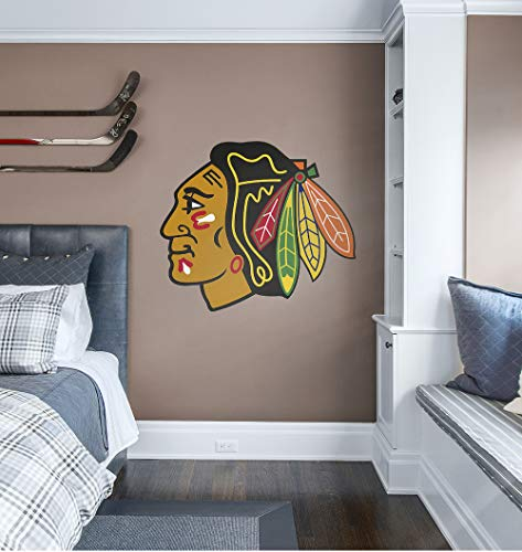 Fathead NHL Chicago Blackhawks Chicago Blackhawks: Logo - Giant Officially Licensed NHL Removable Wall Decal