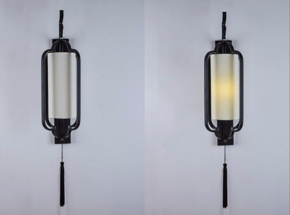 Chinesische einfache schmiedeeiserne Wandleuchte Wandleuchte Flur der Flur im chinesischen Stil einfach und modern retro Beleuchtung, E 27-750* 320