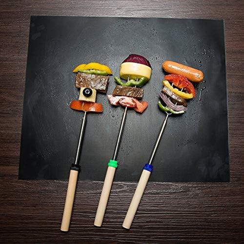Sanzenling 3 pcs/Ensemble Tapis de Barbecue en Fibre de Verre résistant aux Hautes températures Revêtement en téflon Tapis de Barbecue Barbecue Antiadhésif Réutilisable