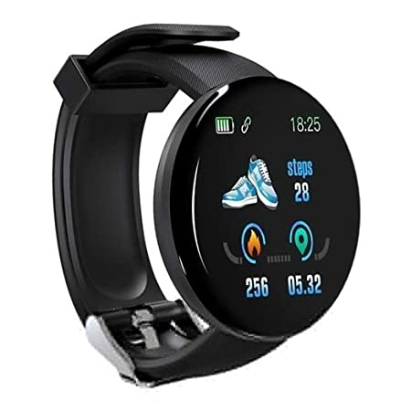 Tauser Pulsera Inteligente Unisex Casual Multifuncional con Forma Redonda Bluetooth Smartwatches