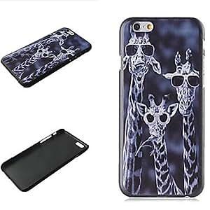 ZXM- ciervos locos patrón de plástico duro para el iphone 6 más