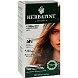 Herbatint Permanent Herbal Haircolour Gel 6N Dark Blonde - 135 ml (Pack of 3)