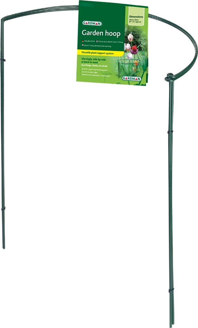 Gardman R741 Half Hoop Plant Support, 6'' Wide x 16'' High