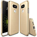 LG G5 Case, Ringke [SLIM] Snug-Fit Slender [Tailored Cutouts] Extreme Lightweight & Thin Side to Side Edge Coverage Scratch Resistant Superior Coating PC Hard Skin for LG G5 2016 - Royal Gold