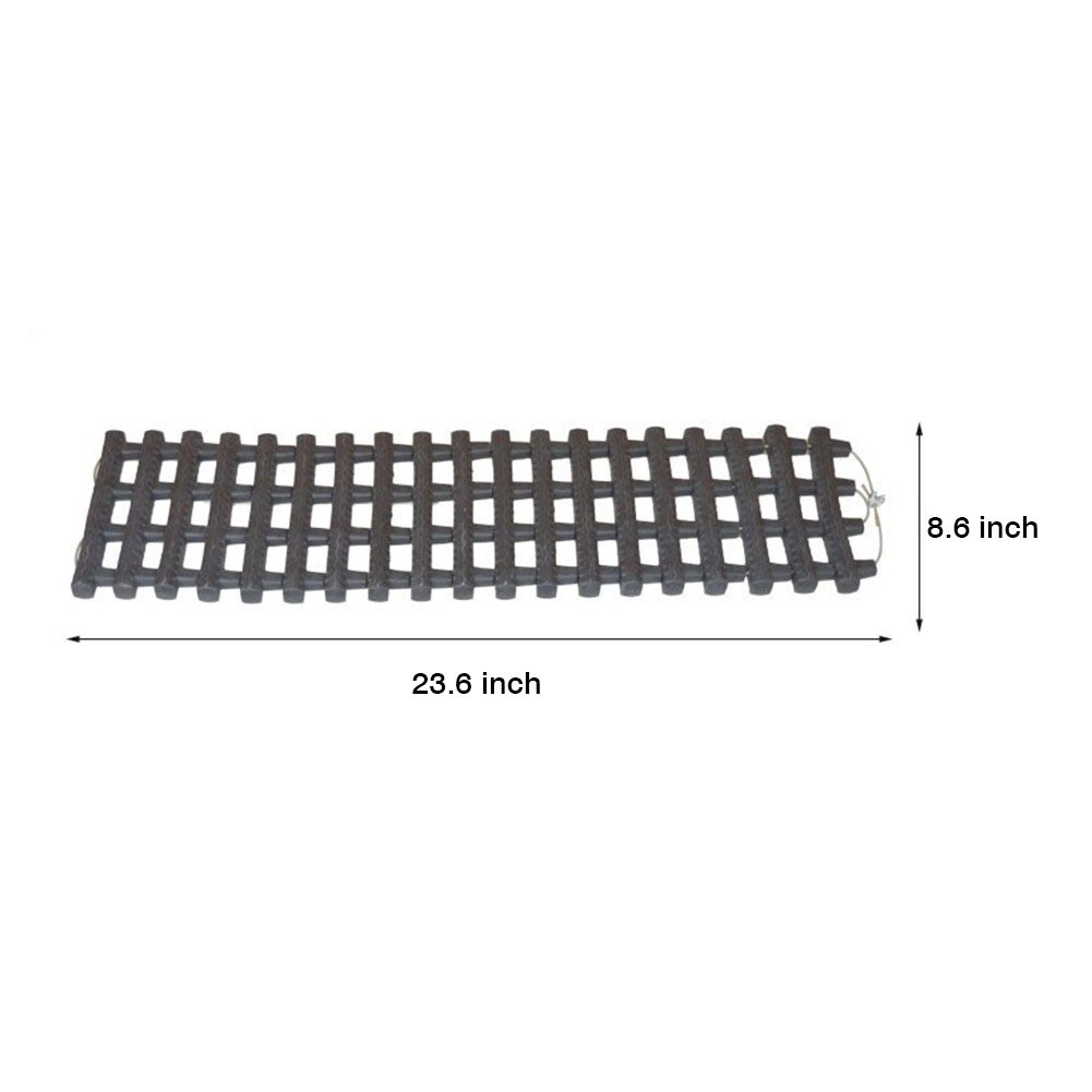 Black Power Tiger CAR ACCESSORIES 5559000480 2 Packs Emergency Tire Grip Aids for Car Portable Tire Traction Mats Truck Van or Fleet Vehicle Unstuck In Snow Mud And Sand Ice