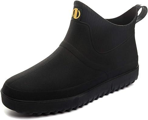 Amazon.com | Enelauge Men's Outdoor Waterproof Rain Short Ankle Boots  Nonslip Rubber Rain Footwear | Rain