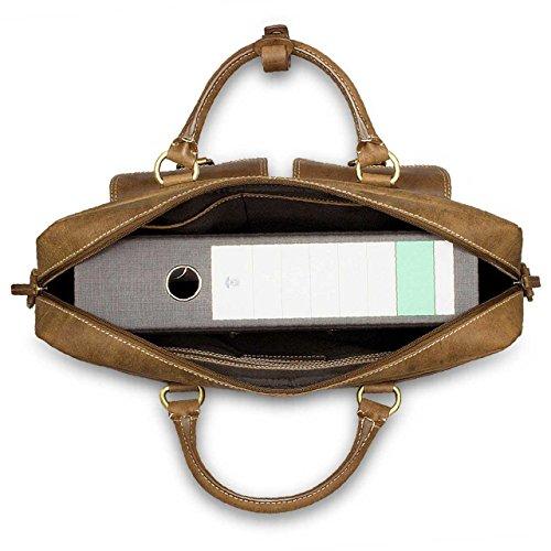 STILORD Sac en bandoulière / Besace / pour Hommes et Femmes / pour Sac pour ordinateurs portables Bandoulière Cuir Marron