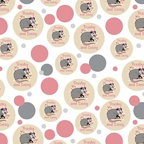 GRAPHICS & MORE Trashy and Sassy Opossum Funny Premium Gift Wrap Wrapping Paper Roll
