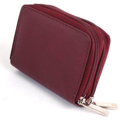Alpine Swiss Womens Accordion Organizer Wallet Leather Credit Card Case ID