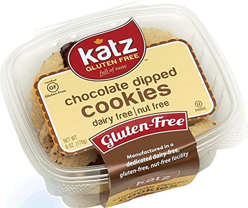 Katz Gluten Free Chocolate Dipped Cookies, 6 Ounce, Certified Gluten Free - Kosher - Dairy & Nut free (Pack of 1)
