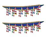 Beistle S50337AZ2, 2 Piece International Flag Ceiling Décor, 12'' x 12'