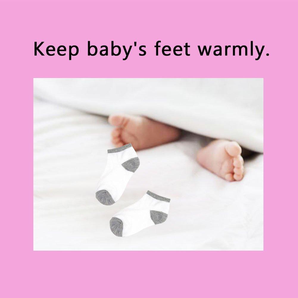 Toddler Baby Socks - 16 Pack Low Cut Ankle Socks Boys Girls Baby Toddler Socks by LanGui (Image #1)