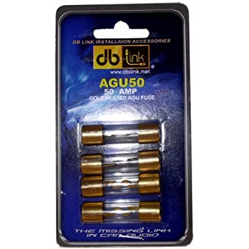 DB Link AGU50 50 Amp Gold AGU Fuses