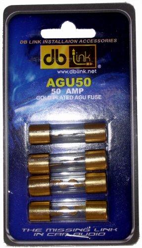 Price comparison product image DB Link AGU50 50 Amp Gold AGU Fuses