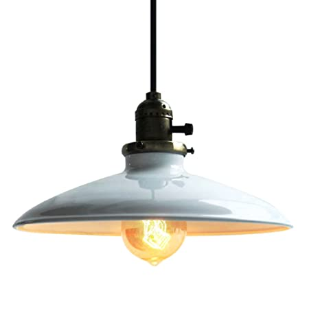 antique industrial pendant lights white. Fuloon Lighting Industrial Antique Metal Shade Pendant Light 1 UFO Ceiling ( Lights White