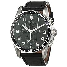 Victorinox Swiss Army Men's Chrono Classic 241651 Black Leather Swiss Quartz Watch