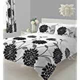Just Contempo Floral Bloom Duvet Cover Set - King, White by Just Contempo
