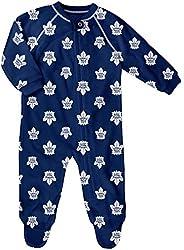 Newborn Toronto Maple Leafs All Over Print Raglan Sleeper